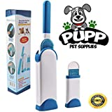 Pupp Pet Hair Remover Lint Brush With Self-Cleaning Base For Clothes Fuzz, Pet