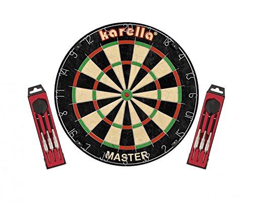 Karella Dartscheibe 'Master' inkl. 2 Karella-Steeldarts ST-1