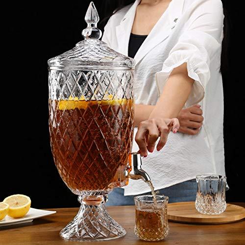 Vidrio Dispensador De La Bebida con Pie Alto - ABS Libre De Fugas Spigot - Home Bar & Vintage Bebida del Partido Dispensador ~ (Color : 4.5L, Size : ABS Spigot)
