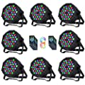 Nurxiovo DJ Lights 8 Packs Stage Light 36 X 1W RGB LEDs Sound Activated Par Lights Uplighting with Remote Control Compatible with DMX, 9 Modes LED Up Lights w/Fan for Clubs Concerts Party Wedding