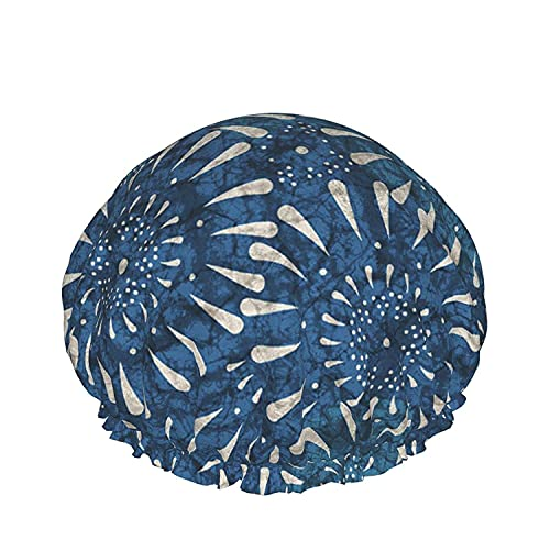Gorro de ducha impermeable de doble capa, pincel de fondo abstracto pintado cepillado, para mujeres, reutilizables, lavables, para cabello largo, gorras-color_24