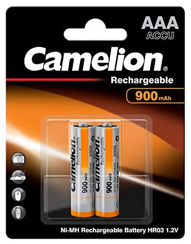 Camelion 17009203 - Pack de 2 baterías recargables AAA (Ni-MH, 900 mAh, 1.2 V)
