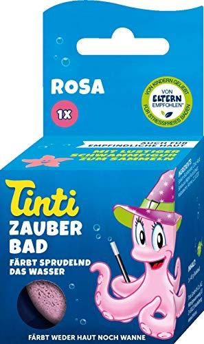 Tinti Zauberbad Rosa - Sprudelnde Badekugel mit Überraschung, 1er Pack(1 x 60 g)