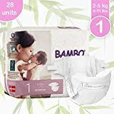 Bambo Nature Eco Friendly Premium Baby Diapers for Sensitive Skin, Size 1 (4-11 lbs), 28 Count