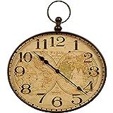 Reloj de Pared de Metal diseño de Carrick cbwjt W. Llavero, Bronce
