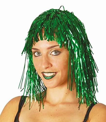 Perruque vert brillante