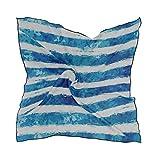 Bufandas de moda para mujer, Plantilla Patrón abstracto sin costuras Dibujo a mano alzada Seda cuadrada Sensación de pelo Bufanda Envolver Pañuelo en la cabeza 23.62'x23.62'
