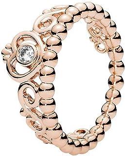 Pandora Women's Gold Plated Rose Tiara Cubic Zirconia Dangle Ring - 56 EU - 180880CZ-56