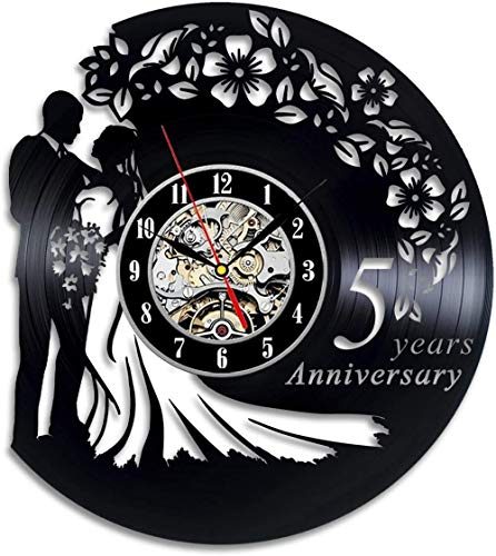 GODYS Wall clock made of vinyl modern design wall clock living room decoration for wedding birthday table wall clock decoration for home seven colors with light 12 inches