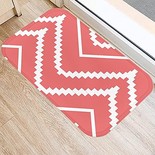 OPLJ Felpudo de Entrada de Cocina con impresión 3D geométrica Rosa, Felpudo de Entrada de decoración de Interiores, Alfombra Antideslizante de baño A11 40x60cm