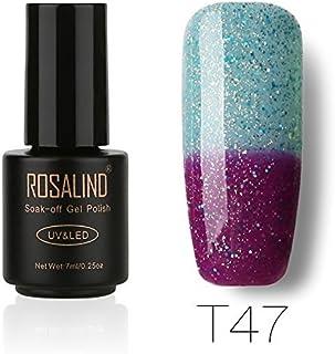 ROSALIND gel de uñas esmalte glaseado camaleón térmico Cambio de temperatura brillo Empapa UV LED barniz manicura pedicura...