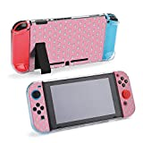 SUPNON Cute Rainbow Cartoon Bunny RABIT with Dots Protective Case Compatible with Nintendo Switch Soft Slim Grip Cover Shell for Console & Joy-Con with Screen Protector, Thumb Grips Design33665