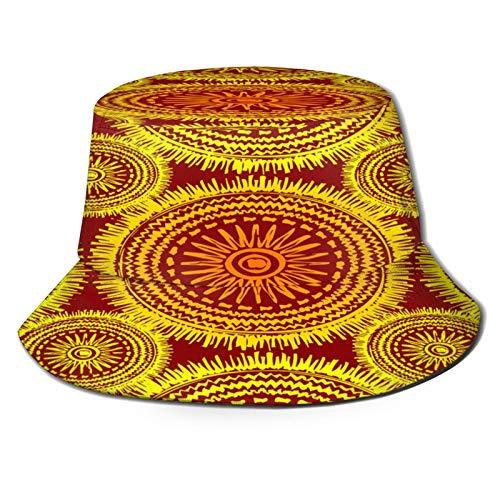 Sombrero de Pescador Unisex Boho tnico Plegable De Sol/UV Gorra Proteccin para Playa Viaje Senderismo Camping