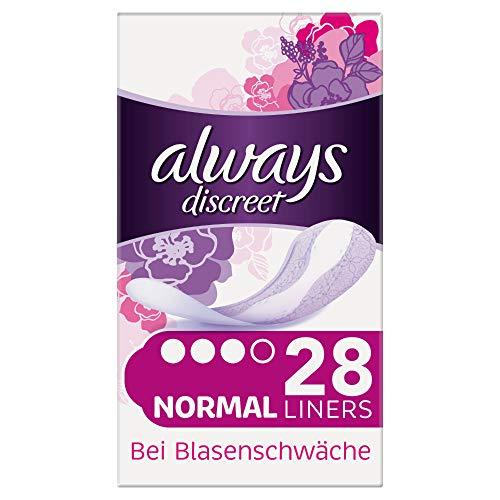 Always Discreet Inkontinenz-Slipeinlagen Normal bei Blasenschwäche, 3er Pack (3 x 28 Stück)