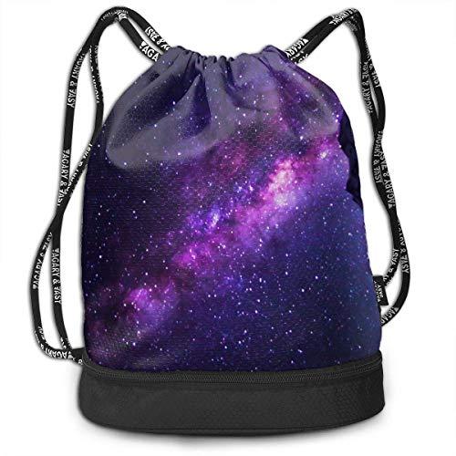 Space Galaxy - Rucksack mit schimmerndem Kordelzug, schwimmend, reisend, Rucksack mit großer Kapazität, Beam-Rucksack, Aufbewahrungsbox für zu Hause, Geschenk für Männer und Frauen, Mädchen und J