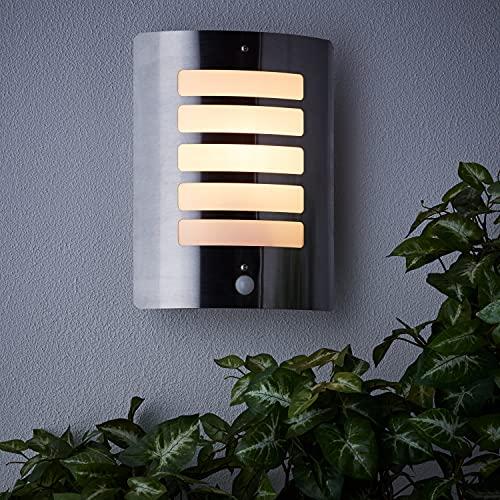 brilliant lampada da parete Brilliant AG 47698/82 Applique murale extérieure avec détecteur de mouvement Métal/Plastique 60 W E27 Acier
