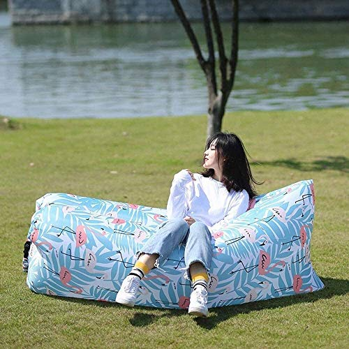 Zixin Auto-Rücksitz Matratze Außen faul aufblasbares Sofa Sack Luftmatratze Camping Luftbett Stuhl tragbares Einzel Camping (Farbe: Grün) (Farbe: Grün) (Color : Blue)