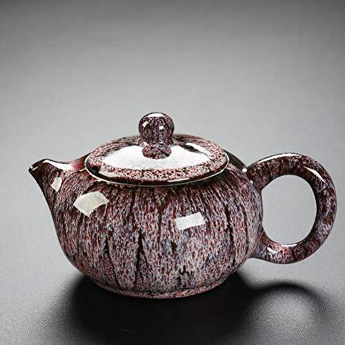 FUYIO Glaseado Tetera Juegos de té de Kung Fu Chinos Hechos a Mano Teteras Tetera de Arcilla de cerámica Tetera Tetera de cerámica China, Rosa