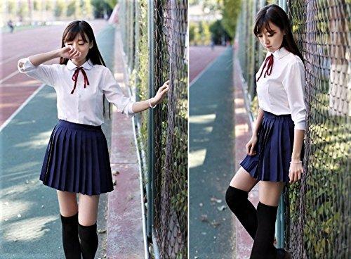 『【SWEET ROSE】リアル コスチューム 女子高校生 制服 コスプレ衣裳 リボン紐タイプ ニーハイソックス付き (L)』の3枚目の画像