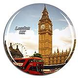 Weekino Reino Unido Inglaterra Big Ben Red Bus Londres Imán de Nevera 3D de Cristal de la Ciudad de Viaje Recuerdo Colección de Regalo Fuerte Etiqueta Engomada refrigerador