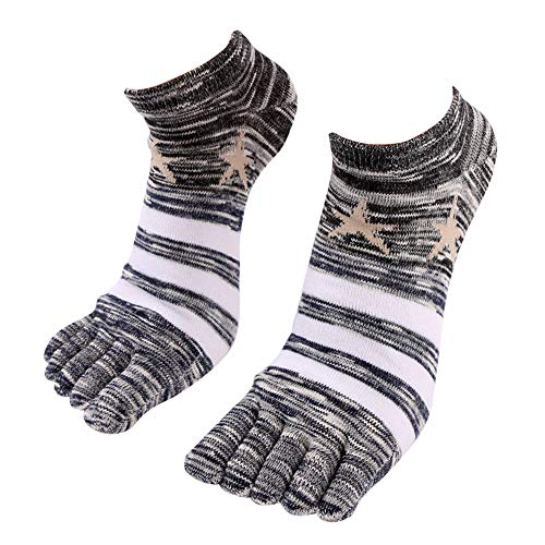 COMIOR Herren Socken Freizeitsport Baumwolle Bequeme Socken Five Fingers Rutschfeste Baumwollsocken Atmungsaktiv Schweißabsorbierende Split Toe Herrensocken