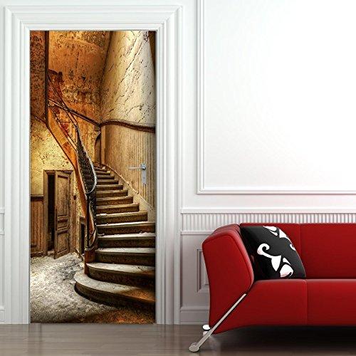 StickerProfis Türtapete selbstklebend TürPoster - ALTE TREPPE - Fototapete Türfolie Poster Tapete