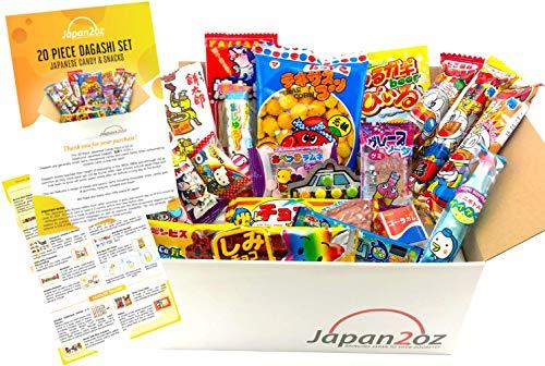 Japanisches Süßigkeiten-Set und Snack Sortiment 20 Stück