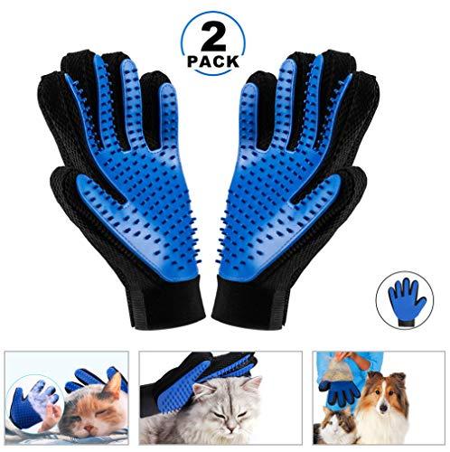 KAIHONG 2 x Guanto Spazzola da Massagio per animali da compagnia, cane/gatto da taglio per animali da compagnia Gloves da guarigione Guanto da spazzola per capelli per i manicotti puliti e massaggiati