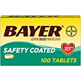 Aspirin Regimen Bayer 325mg Enteric Coated Tablets, #1 Doctor Recommended Aspirin Brand, Pain Reliever, 300 Count
