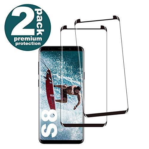 petit un compact Verre trempé Cavalrywolf Galaxy S8 pour écran, [2 Pièces] [Full Coverage] [Anti…