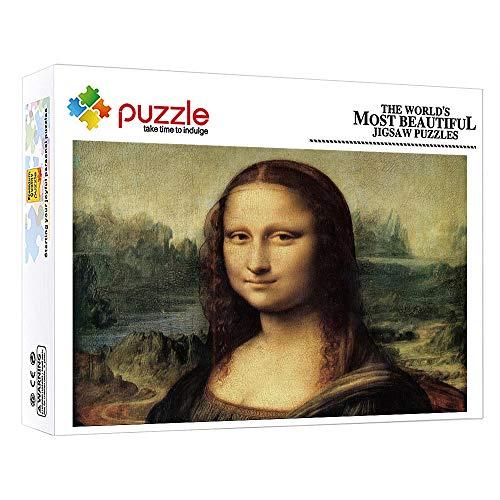 1000 Piezas Jigsaw Puzzle Cuadro Famoso La Sonrisa De Mona Lisa 1000 Piezas Baby Puzzles para Adultos Y Niños Educativos Juegos para Desarrollar Aficiones (38 × 26 Cm)