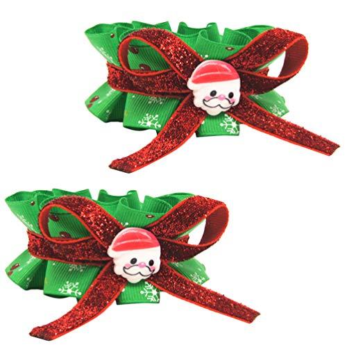 POPETPOP 2 Piezas Collar de Perro Bowtie de Navidad Accesorio de Traje...