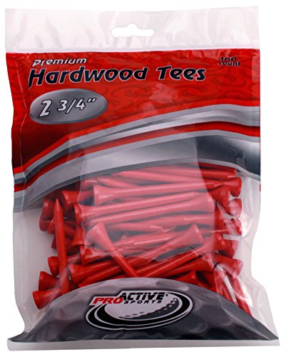Best golf tees - ProActive Sports 2 3/4-Inch Golf Tee (Pack of 100), Red