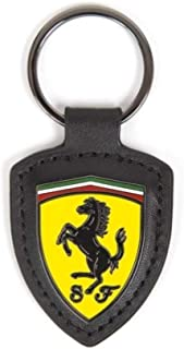 Scuderia Ferrari Leather Keyring