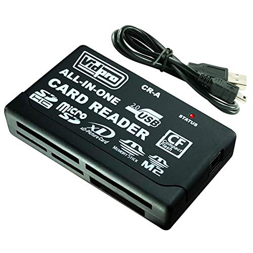 Vidpro CR-A 6-Slot All-in-One USB 2.0 Card Reader/Writer for SD CF MMC MS XD