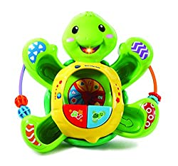 An engaging turtle character which spins around on the floor, popping balls whilst playing music, phrases and songs that encourage interactivity Includes five multicoloured balls for popping play Press the buttons to learn numbers, turtle facts and m...