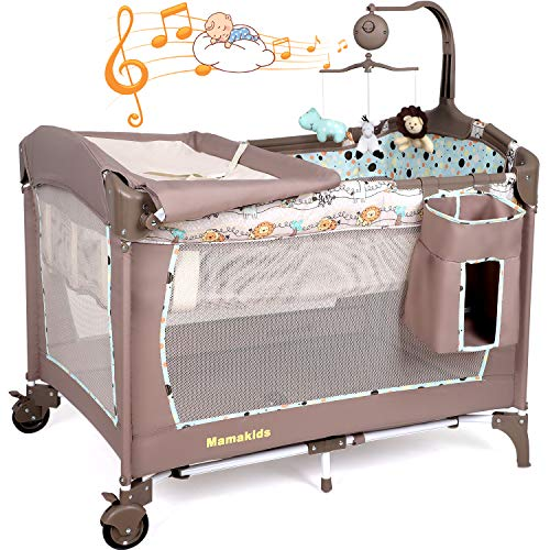 Hadwin Foldable Travel Cot With Changing Table