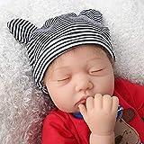 男の子と女の子の子供のための青い目本物そっくりの22inch / 55センチメートルソフト生まれたばかりの赤ちゃんの人形の手作りの詳細な絵画現実的な洗えるおもちゃ新生児の人形
