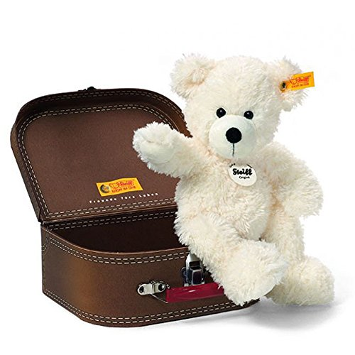 2 X Steiff 28cm Lotte Teddy Bear in Suitcase (White)