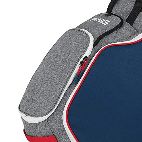 Product Image 3: PING New Hoofer 14 Way Stand Golf Bag [Heather Grey/Navy/Scarlet]