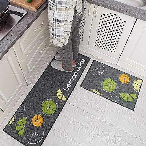 TONGXU 2 Piezas Alfombras Antideslizantes Absorbentes para Cocina Baño para Colocar Delante de Fregadero o Lavadora 40 x 120cm y 40 x 60cm