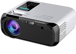 جهاز عرض ليد E500S مزامنة سينما منزلية 3000 لومن 4K [شاشة الهاتف المحمول] جهاز عرض سينما الترفيه المنزلي 4K [منفذ USB HDMI...