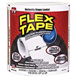 Flex Tape Rubberized Waterproof Tape, 4' x 5', White