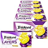 Trident Layers Grape & Lemonade Sugar Free Gum, 12 Packs of 14 Pieces (168 Total Pieces)