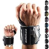 Handgelenkbandage (2er-Set) von FITGRIFF - Wrist Wraps (45cm) - Profi Bandagen für Kraftsport, Fitness, Bodybuilding, & Crossfit Training - Handgelenkstütze für Frauen und Männer - 2 Jahre Gewährleistung