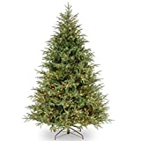 National Tree Company 'Feel Real' Pre-lit Artificial Christmas Tree | Includes Pre-strung Multi-Color LED Lights and Stand | Frasier Grande Fir - 6.5 ft