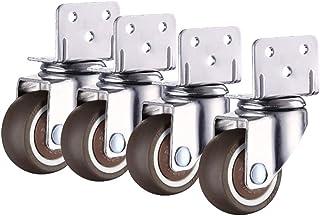 L-vormig universeel wiel x4, stille haakse zwenkwiel/vervangende zwenkwiel, geschikt voor lichte meubelbloemenstandaard (...