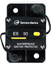 Marine Circuit Breaker 90Amp for Boat Trolling with Manual Reset By Genuine Marine, Water Proof, 12V- 48V DC (90A)