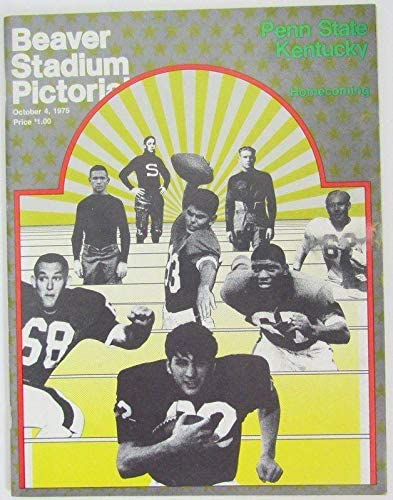 1975 Penn State Nittany Brand new Lions 1384 Football vs. Program Max 74% OFF Kentucky
