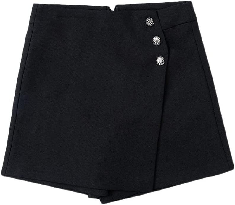 ERTYUIO Short Skirt Plaid Fashion Financial sales sale One Culottes A-Line San Antonio Mall High-Waist